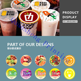 China Heat Sealable Bubble Tea Cup Sealing Film Roll For Plastic Cup / Paper Cup supplier