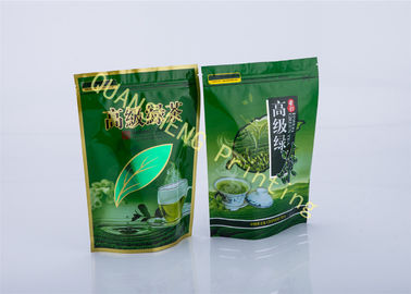 China Green Tea Food Grade Tea Packaging Bags , Customized Stand Up Pouch With Ziplock supplier
