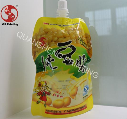 BOPP / PET Spouted Pouches Packaging With Gravure Printing Customized Size