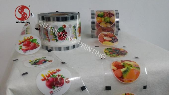 Laminated Printed Heat Sealing Plastic Sheeting For Paper And Plastic Cups
