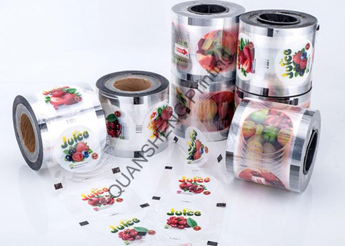 Heat Sealable Bubble Tea Cup Sealing Film Roll For Plastic Cup / Paper Cup