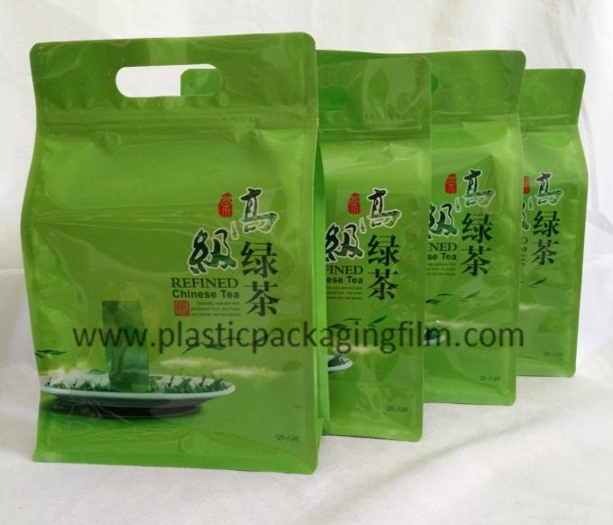 Moisture Proof 8 Side Sealed Green Tea Individually Packaged Tea Bags With Zipper