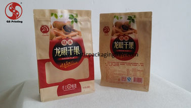 China Laminated Material Zipper Storage Bags , Ziplock Stand Up Resealable Pouches With Window distributor