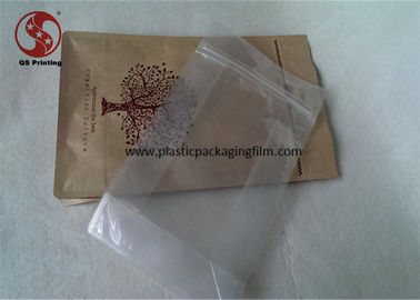 China Kraft Paper Food Packaging Paper Stand Up Pouches , Zip Lock Plastic Bags With Tearing Notch Matt Finished Printing factory