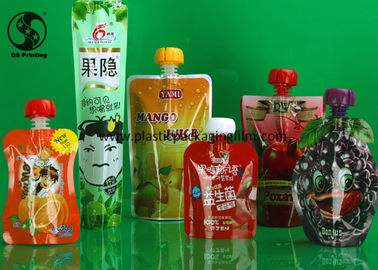 China Food Grade Laminated Material Stand Up Pouch Bags for Juice Packaging Multi Sizes distributor
