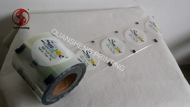 China Transparent Coffee / Tea Cup Sealing Film Roll With BOPP / PE Material OEM factory
