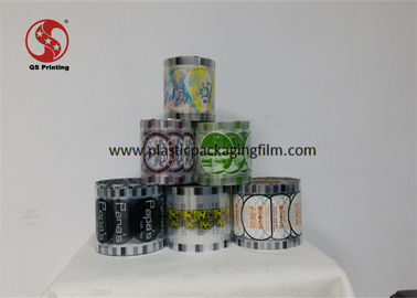 China Milk Tea Packaging Cup Sealing Film Roll With Laminated Bopp / Pet / Pe Material factory