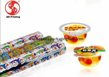China Safe Jelly Plastic Cup Packaging Film , Custom Colorful Printed Shrink Wrap Rolls distributor
