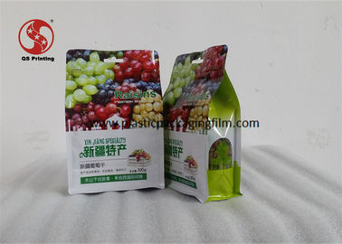 China Die Cut Plastic Quad Seal Pouch With Zipper Seal Gravure Printing Moisture Proof distributor