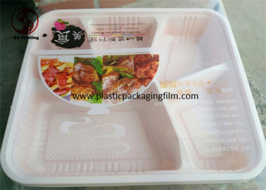China Transparent Heat Seal Printed Packaging Film for Packing Disposable Lunch Box distributor
