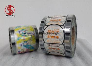 China PET / PE Cup Sealing Film With Low Temperature Heat Sealable Way FDA / ROHS / ISO factory