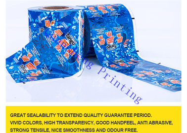 China Safe PE Material Printed Packaging Film Roll For Drinks / Fruits / Meat Packing distributor