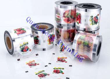China Bubble Tea Plastic Cup / Paper Cup Sealing Film With Lamination Materials Gravure Printing distributor