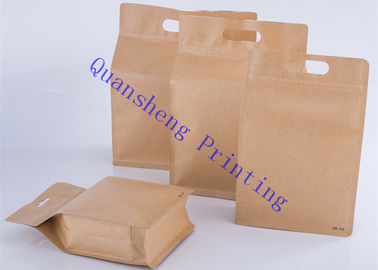 China Quad Sealed Square Bottom Coffee Storage Bags For Coffee Powder / Coffee Beans distributor