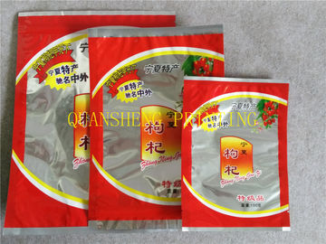 China Aluminum Foil Zipper Flexible Three Side Seal Bags With Tear Notch , Moisture Proof distributor