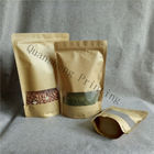 Moisture Proof Stand Up Zipper Kraft Paper Bags With Window For Tea / Coffee bean / Dried fruits