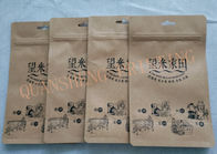 Resealable Zipper Brown Kraft Paper Coffee Storage Bags With Custom Printing